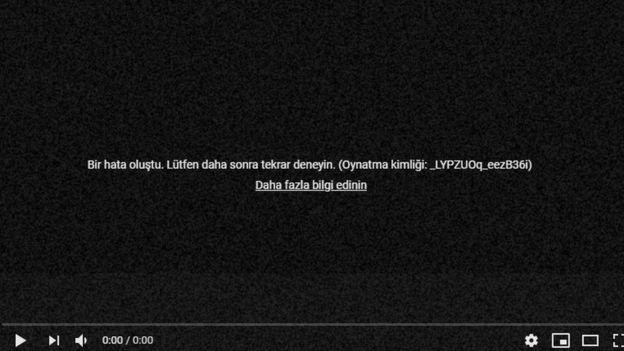 YouTube kanallarında çıkan uyarı