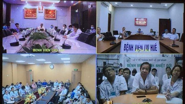 Các bác sĩ từ các bệnh viện trên cả nước hội chuẩn tình trạng bệnh của BN91.