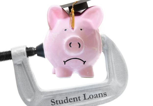 Sag piggy bank in student loans vice