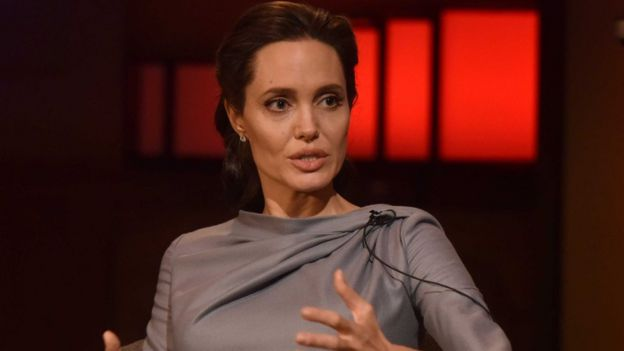 Angelina Jolie speaking to the BBC in 2016