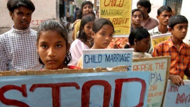 Niños contra el matrimonio infantil