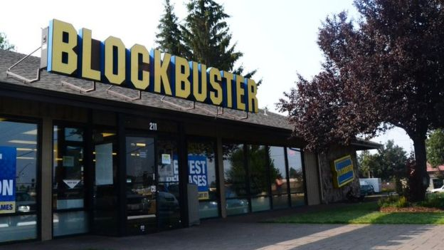 Local de Blockbuster en Bend, Oregon.