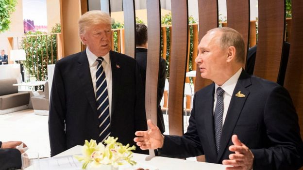 Дональд Трамп, Владимир Путин на G20, Гамбург