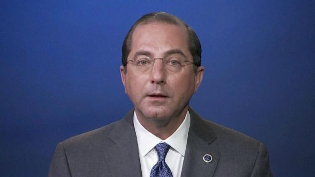 US health secretary Alex Azar