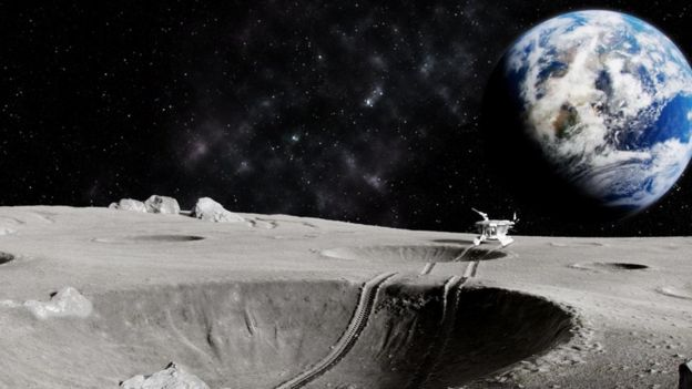 Imagen de la exploración lunar.