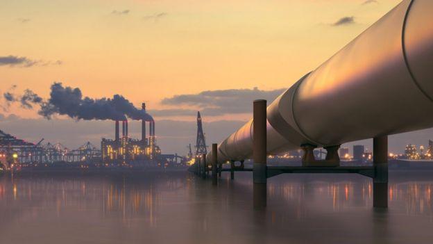 Planta de extracción de petróleo