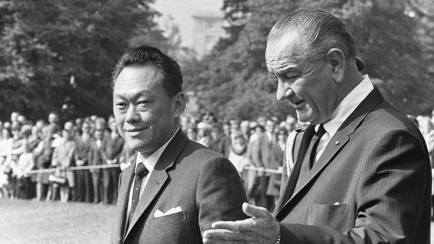 Thủ tướng Singapore Lý Quang Diệu và Tổng thống Mỹ Lyndon Johnson