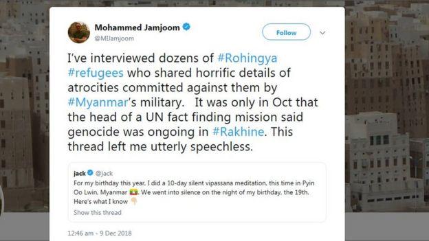383976d96726 Twitter s Jack Dorsey answers critics of Myanmar meditation retreat ...