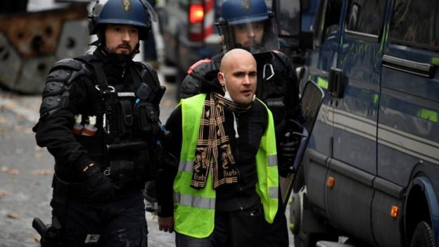 Gözaltılar Fransa yakıt