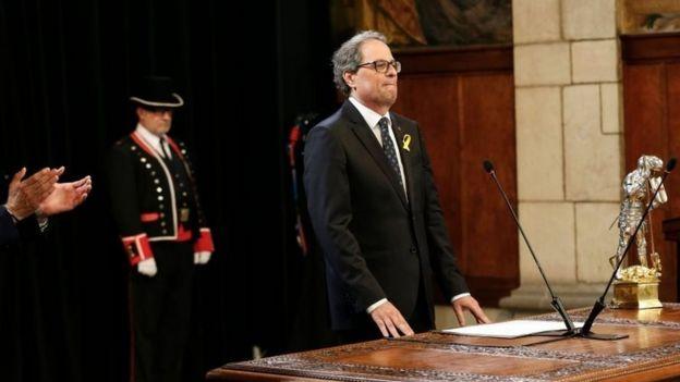 Quim Torra jura como líder del gobierno catalán