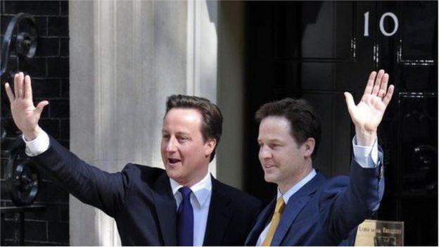 前任首相卡梅伦和自由民主党领袖尼克·克萊格