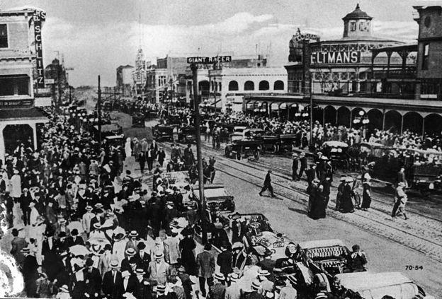 Una vista de Coney Island a comienzos del siglo XX