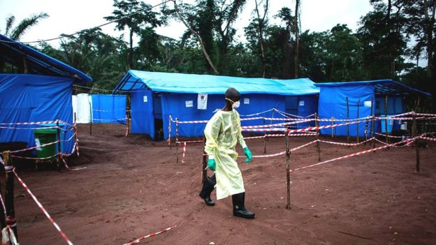 An Ebola quarantine unit in DRC in June 2017
