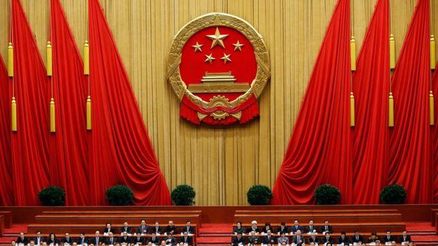 Os deputados do Partido Comunista no congresso do partido em Pequim, em 2013