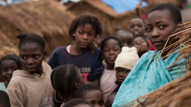 Informal settlement for displaced people in Mwaka village, Tanganyika province - DR Congo