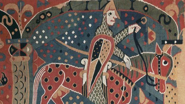 Гобелен с изображением викинга на лошади