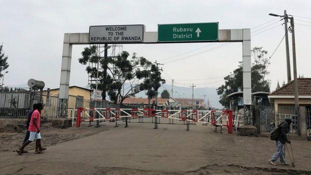 DR Congo's border with Rwanda