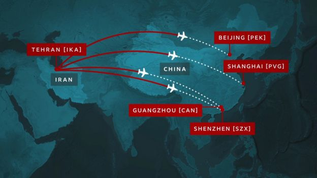 Mahan Air continuó volando entre Irán y las cuatro ciudades principales de China: Beijing (Pekín), Shanghai, Guangzhou y Shenzhen.