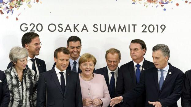 Líderes durante a cúpula do G20