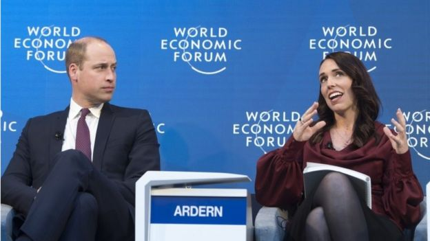 Prince William and Jacinda Ardern