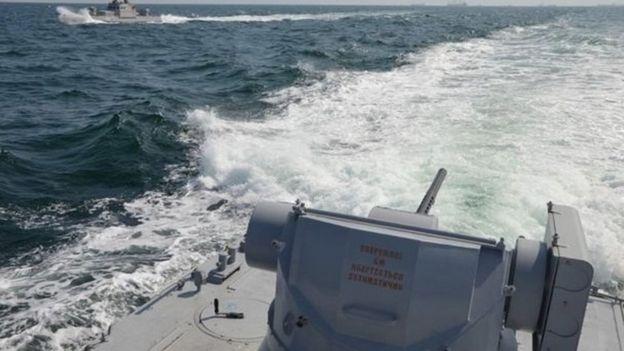 Азовське море і військові судна