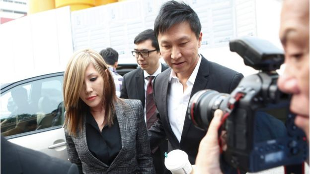City Harvest Church pastor Kong Hee and his wife arrive at the state court in Singapore on 21 October