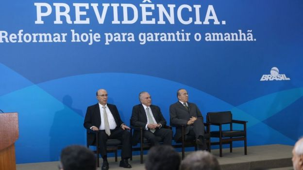 Presidente Michel Temer em evento sobre a Previdência