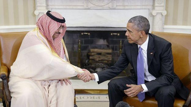 O príncipe saudita Mohammed bin Nayef com Obama na Casa Branca em 2016