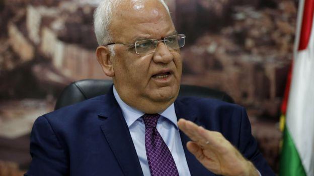Alto funcionario palestino, Saeb Erekat