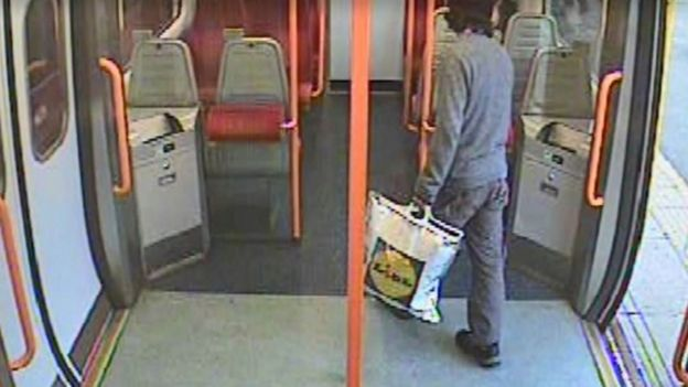 Hassan's bomb carried onto a train in a supermarket bag