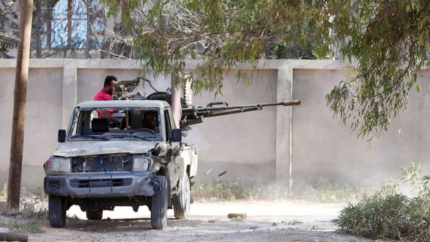 Бои на окраинах Триполи