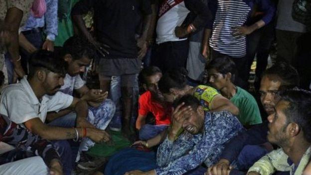 Mourning relatives near Amritsar, India. Photo: 19 October 2018
