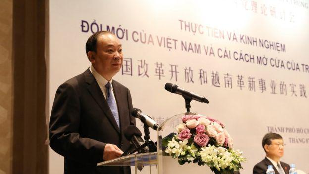 Trưởng Ban Tuyên truyền Trung ương Trung Quốc Hoàng Khôn Minh phát biểu