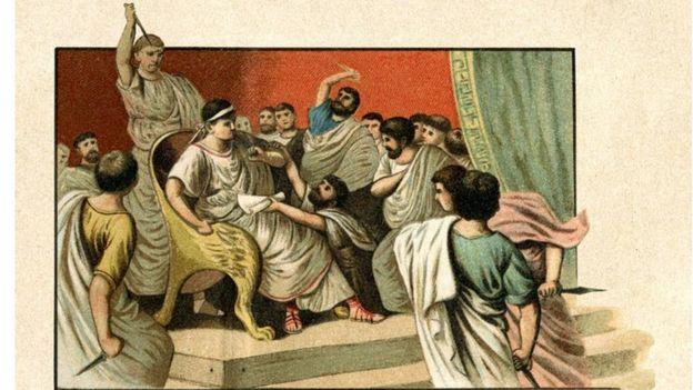 جولیوس سزار را شصت نفر با ۲۳ ضربه چاقو در سنای رم کشتند