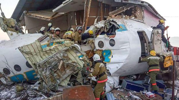 حطام الطائرة المنكوبة