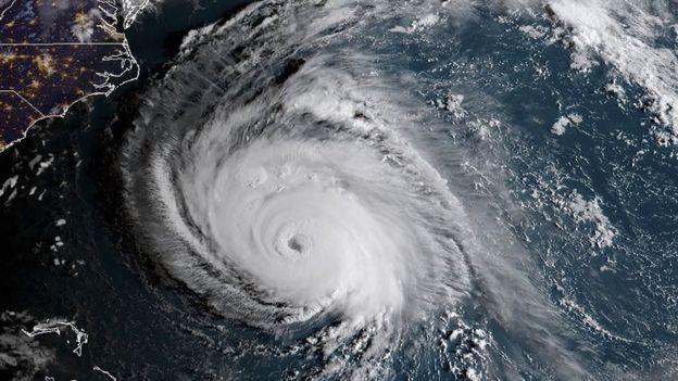 عکس ماهوارهای امروز (۱۲ سپتامبر) از طوفان دریایی فلورانس