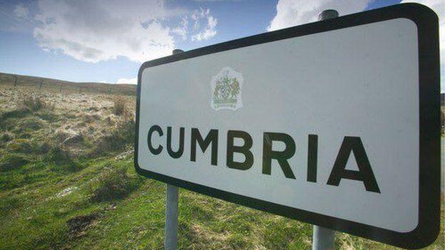 Arwydd Cumbria