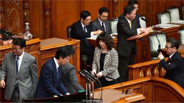 圖為2018年12月7日東京的日本國會,它通過了一項具有歷史意義的法案,引進數量前所未有的外國藍領勞工