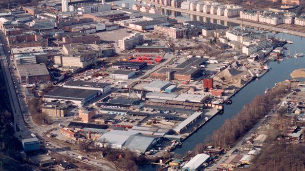 aerial view of Hammarby Sjöstad