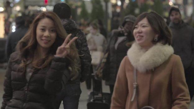 Jovens japonesesas
