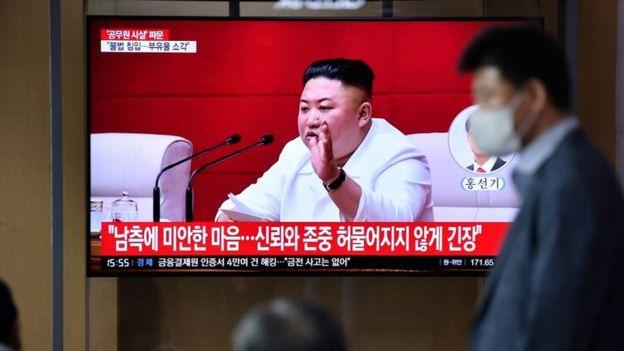 Kim Jong-un el 25 de septiembre.