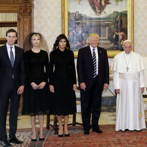Familia Trump y Francisco