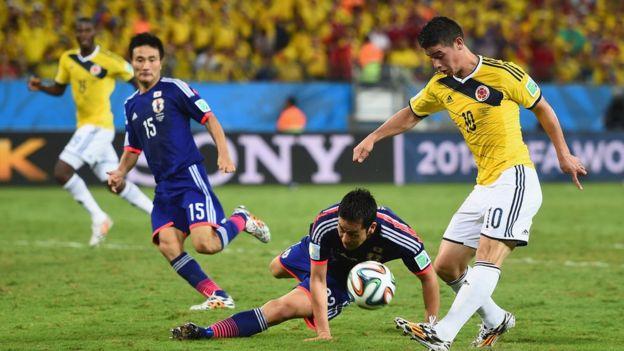 Colombia vs. Japón.