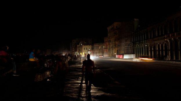 Un apagón en Cuba