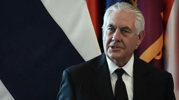 El secretario de Estado de Estados Unidos, Rex Tillerson.