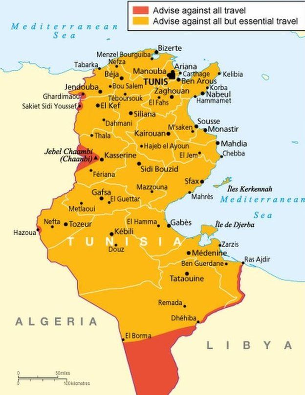 FCO map of Tunisia