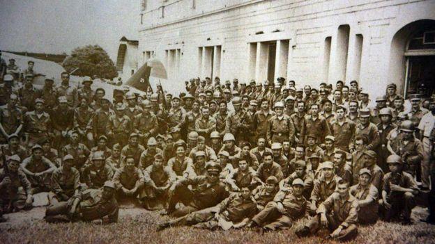 Пехота Гондураса перед отправкой на фронт