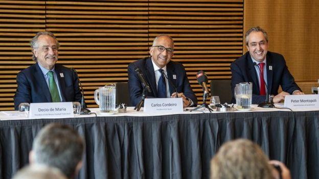 Los presidentes de las federaciones de México, Canadá y Estados Unidos