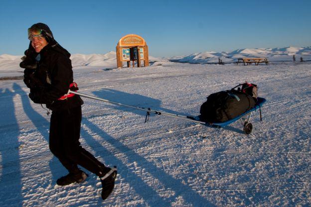 Norma Bastidas en el Ártico