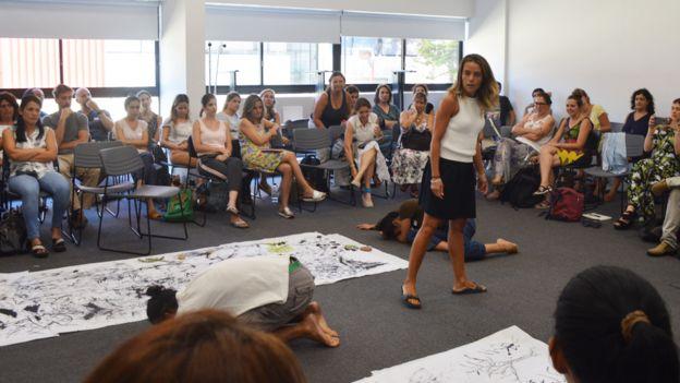 Taller de la Fundación Botín para docentes en Uruguay